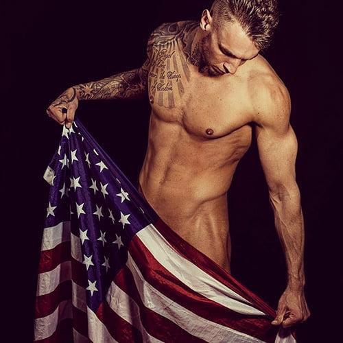 stripper Angelo naakt