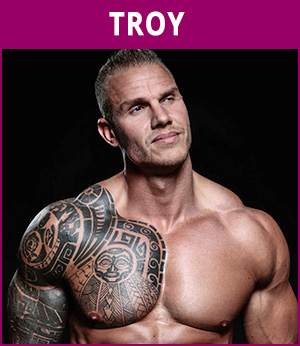mannelijke stripper Troy
