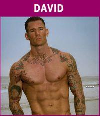 mannelijke stripper David