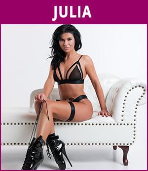 vrouwelijke stripper Julia