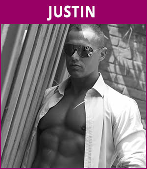 mannelijke stripper Justin