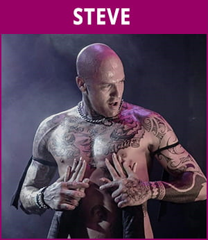 mannelijke stripper Steve
