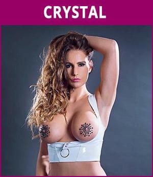 vrouwelijke stripper Crystal