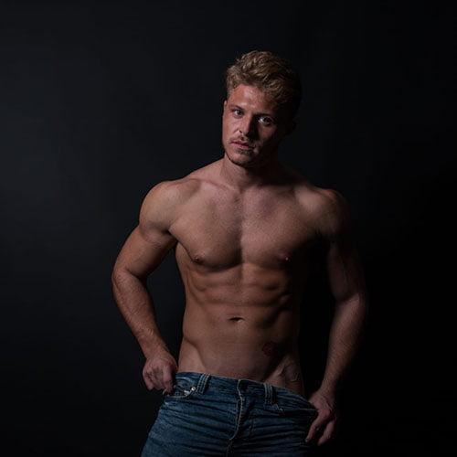 stripper Ken naakte body