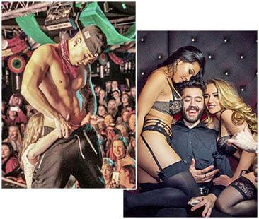 mannelijke en vrouwelijke stripper bij vrijgezellenfeest huren